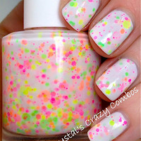 NEW Neon--Neon Lights:  Custom-Blended NEON Glitter Nail Polish / Lacquer
