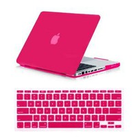 Amazon.com: SmackTom 2 in 1 Rubberized Matte Hard Case Cover For Apple MacBook Pro 13 Inch-Hot Pink: Computers & Accessories