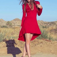 Red Mini Dress - Red Dress | UsTrendy
