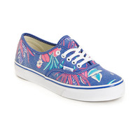 Vans Authentic Slim Van Doren Blue &amp; Parrot Green Shoes