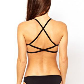 ASOS Mix and Match Moulded Cross Back Triangle Bikini Top