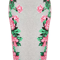 Pixel Flower Tube Skirt - Skirts - Clothing - Topshop USA