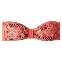 Target : Xhilaration Juniors Bandeau Swim Top with Embellishment - Orange : Image Zoom