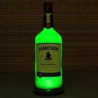 Big 1.75 Liter Jameson Whiskey Bottle Lamp/Bar Light / VIDEO DEMO