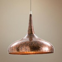 Arteriors Home Mario Dark Copper Hammered Iron Pendant Light