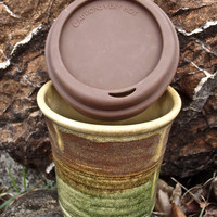 Chocolate Cofee Cups Travel Mug Silicone Lid Ceramic Microwave Safe 14 oz cup ceramic dishwasher safe