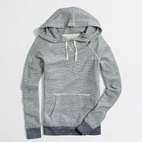 Factory terry stripe pocket hoodie