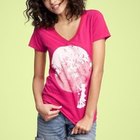 Gap + Threadless Swing High T
