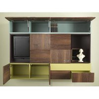 Think Fabricate Brooklyn TV Quilt  Wall Unit