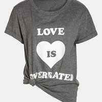 Local Celebrity 'Love is Overrated' Screenprint Tee | Nordstrom