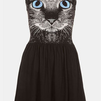 Topshop Cat Graphic Skater Dress | Nordstrom
