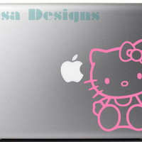 Hello Kitty vinyl decal - Car decal - Macbook decal - Notebook decal