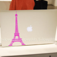 Eiffel Tower Decal for Macbook Pro Air or Ipad by Tloveskin