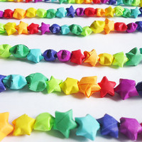 RAINBOW GARLAND  200 origami stars 220m long by FrozenNoteSupply