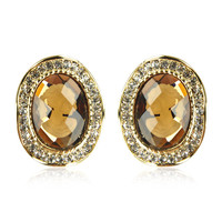 Lady Portrait Oval Earring