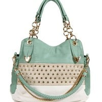 Pre-Order: Mint Rhinestone Handbag