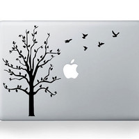 Birds and Tree ---  Mac Decal Macbook Decals Macbook Stickers Vinyl decal for Apple Macbook Pro/Air iPad