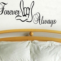 vinyl wall decal quote I Love You forever by WallDecalsAndQuotes
