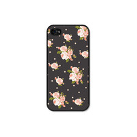 Peach Floral iPhone 5 Case - iPhone 5 Cover - Grey Pastel, Coral and Pink Floral iPhone 5 Skin - Cell Phone Floral iPhone Case