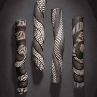 """Sculptural Wall Tube Set"""
