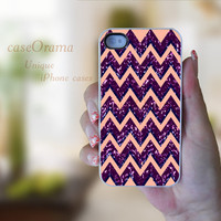 Purple Chevron Pattern iPhone 4, iPhone 4 case, iPhone 4S case, iPhone cover, iPhone hard case