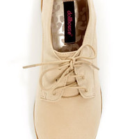 Dollhouse Finest Natural Lace-Up Oxfords