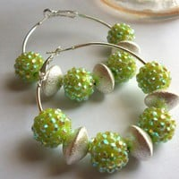 Bold and Sassy Green Hoops
