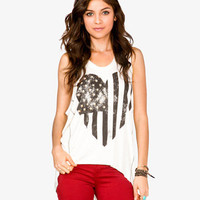 Heart Shaped American Flag Tank
