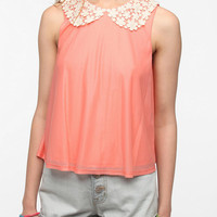 Urban Outfitters - Pins and Needles Lace Collar Swing Tank Top