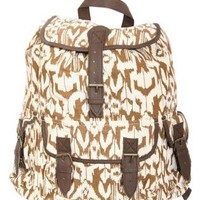 Pilot Ria Printed Back Pack in Brown