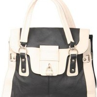 Pilot Sienna Contrast Trim Handbag in Black