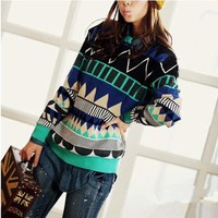 GEOMETRIC Triangle pattern sweater 18