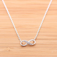 girlsluv.it - INFINITY necklace with CZ