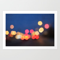bokeh nights Art Print by Beverly LeFevre