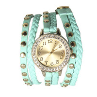 Braided Rhinestone Wrap Watch | Shop Junior Clothing at Wet Seal