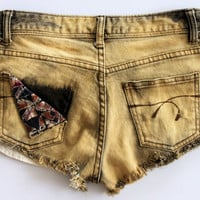 Stone Washed Denim Shorts by shopABBEY on Etsy