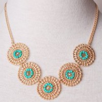 Go For The Gold Necklace | Peacock Plume