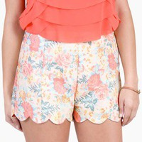 Garden Variety Scalloped High-Waist Shorts by Lush @ FrockCandy.com