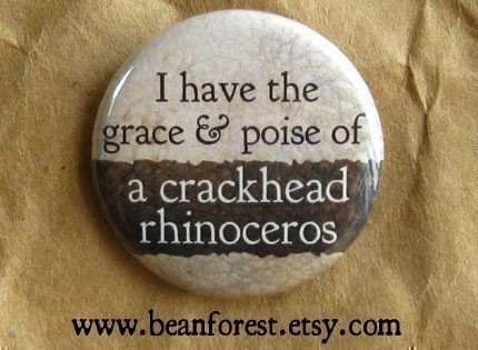 grace and poise of crackhead rhino funny weird by beanforest