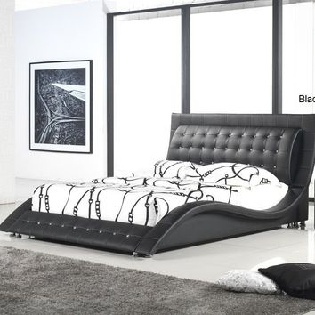 Dublin Contemporary Platform Bed King Size (Mocha)