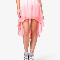 Ombré High-Low Skirt | FOREVER 21 - 2030282260