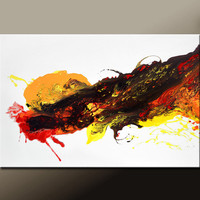 Abstract Art Painting on Canvas 36x24 Original Modern Contemporary Wall Art Painting by Destiny Womack - dWo - The  Fireball