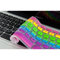 "Kuzy - Rainbow Keyboard Silicone Cover Skin for MacBook Pro 13"" 15"" 17"" Aluminum Unibody (fits MacBook with or w/out Retina Display), iMac a"