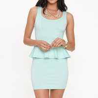 Kirra Heart Cutout Peplum Dress at PacSun.com