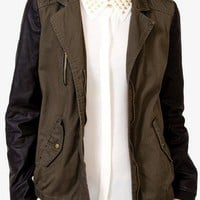Faux Leather Utility Jacket | FOREVER 21 - 2040496039