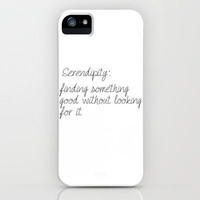 Serendipity iPhone Case by Amber Rose | Society6