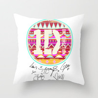 one direction swag Throw Pillow by Taylor St. Claire | Society6