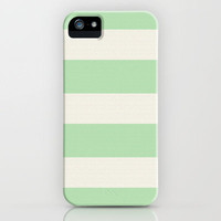 Mint Stripes iPhone Case by MN Art