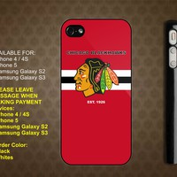 Chicago BLACKHAWKS NHL Team iPhone 4 / 4S case iPhone 5 case Samsung Galaxy S2 case Samsung Galaxy S3 case