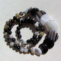 Botswana Agate Crystal Gemstone Necklace - Aten Collection